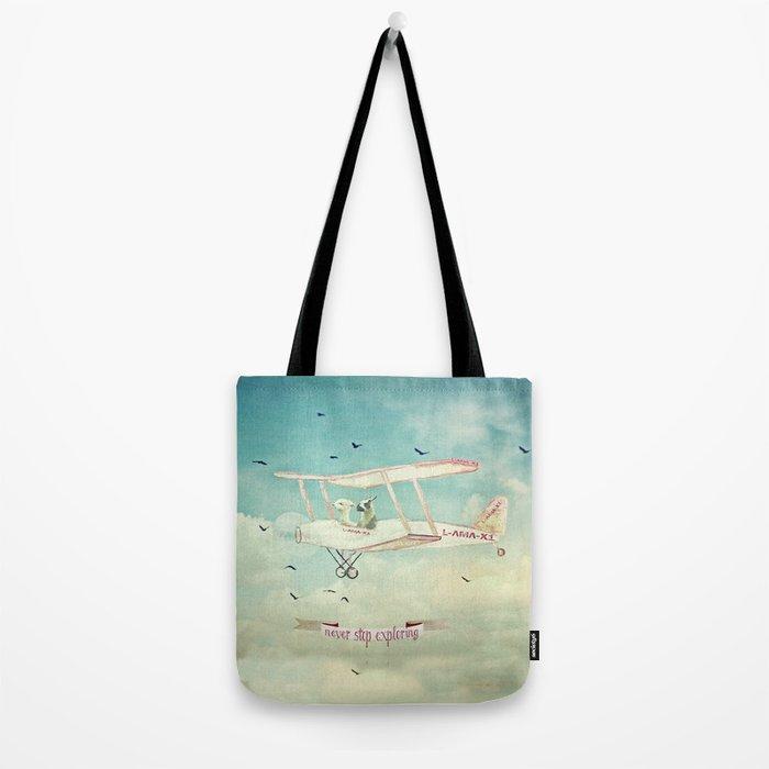 Never Stop Exploring III - THE SKY Tote Bag