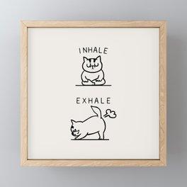 Inhale Exhale Cat Framed Mini Art Print