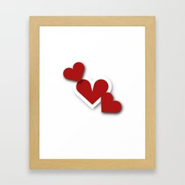 Three hearts Framed Art Print
