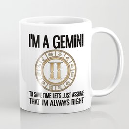 Gemini Zodiac Sign Birthday Gifts Horoscope Coffee Mug