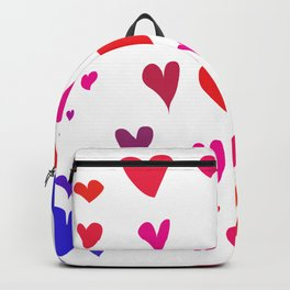 Imperfect Hearts - Color/White Backpack