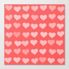 Cute Hearts Canvas Print