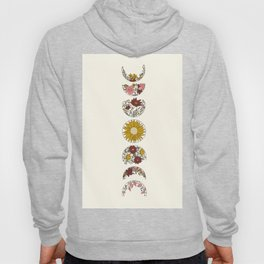 Floral Phases of the Moon Hoody