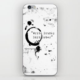 Hemingway Writing Quote iPhone Skin