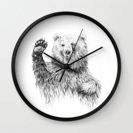 Waving Bear Wall Clock