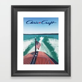Chris Craft Boating Framed Art Print