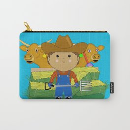 Rancher Dude With Cattle (Kawaii Style) Carry-All Pouch