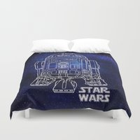 r2d2 Duvet Covers featuring r 2 d 2 by Vickn