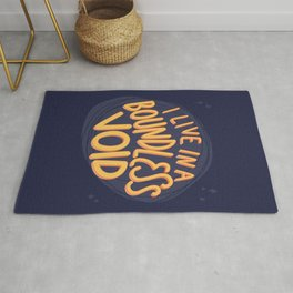 I live in a boundless void (The Good Place) Rug