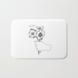 Poppy's whisper / Illustration Bath Mat