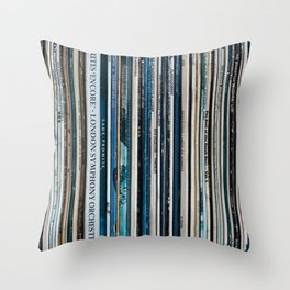 Old Vinyl Throw Pillow