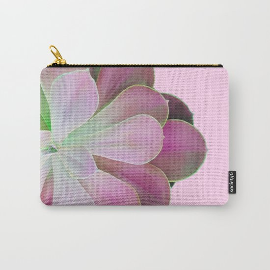 Acid Green and Pink Echeveria Carry-All Pouch