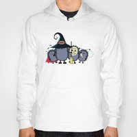 animal crew Hoodies featuring Halloween party crew by mangulica illustrations
