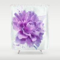 dahlia Shower Curtains featuring Dahlia by Ciro Design