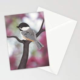 Wiley the black-capped chickadee Stationery Cards