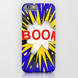 Boom Cartoon Bubble iPhone Case