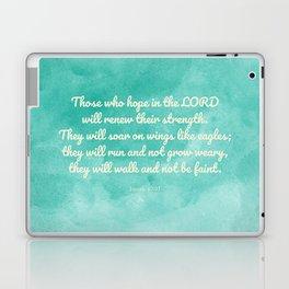 Hope in the Lord Bible Verse, Isaiah 40:31 Laptop & iPad Skin