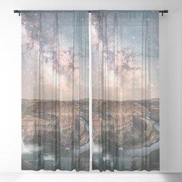Canyon Milky Way Stars Sheer Curtain