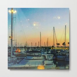 Boats at Sunset -Ava Photography Metal Print