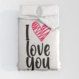 I love you 1 Comforters