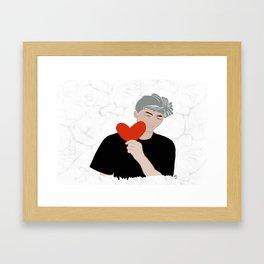 kim namjoon BTS RM Framed Art Print