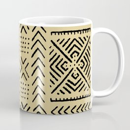 Line Mud Cloth // Tan Coffee Mug