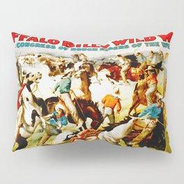 Vintage Wild West Show Poster Pillow Sham