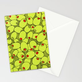 Crazy about olives Stationery Cards