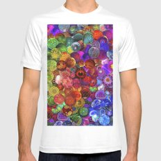 Cosmic Marbles White Mens Fitted Tee MEDIUM