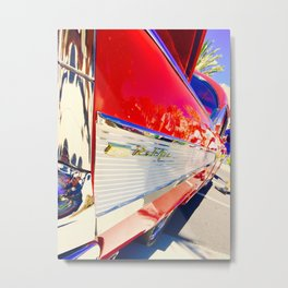 Chevrolet Red BelAir Metal Print