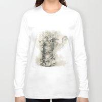 bath Long Sleeve T-shirts featuring Tea bath by Julia Kisselmann
