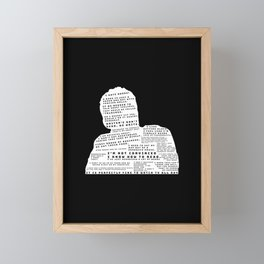 Nick Miller Quotes - black Framed Mini Art Print