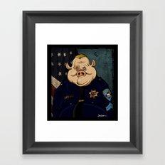 Officer Peel, Public Servant Framed Art Print