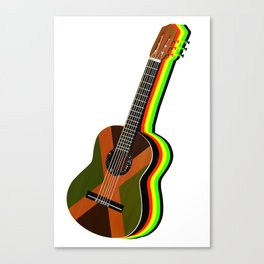 Reggae Guitar Canvas Print
