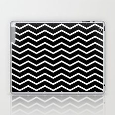 White Chevron On Black Laptop & iPad Skin