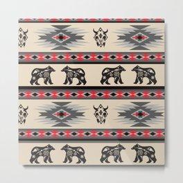 American Native Pattern No. 129 Metal Print
