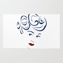 Lucy - Hairography (Lucille Ball) (I Love Lucy) Rug