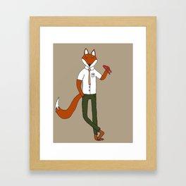Felix and his stapler- 5X7 ilustration print Framed Art Print