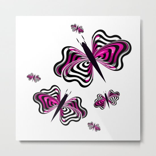 Butterfly Design Metal Print