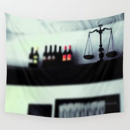 bottles and scales  Wall Tapestry