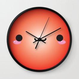 Kawaii Face (Red) Wall Clock