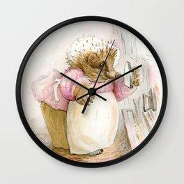 Mrs Tiggywinkle Wall Clock