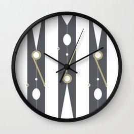 Clothespin Sign, Dark Grey Wall Clock