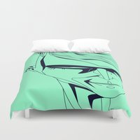 psycho Duvet Covers featuring Psycho by Diego Grosso