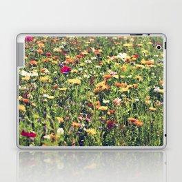 Happy summer meadow vintage style Laptop & iPad Skin