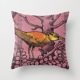 ORANGEBIRD Throw Pillow