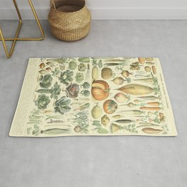Vegetable Identification Chart Rug