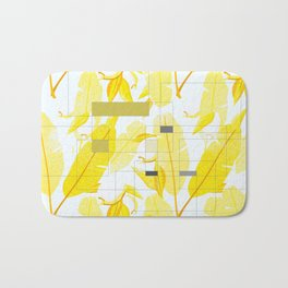 Yellow Deco Bath Mat