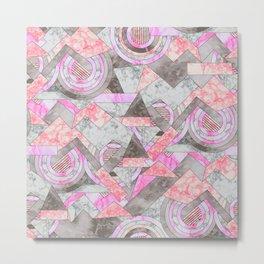 Abstract marble geo 001 Metal Print