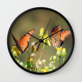 A Pair of Queens on Rubber Rabbitbrush Wall Clock